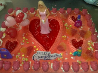 Tarta de la Barbie