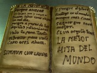 Tarta Libro (dedicatorias especiales)